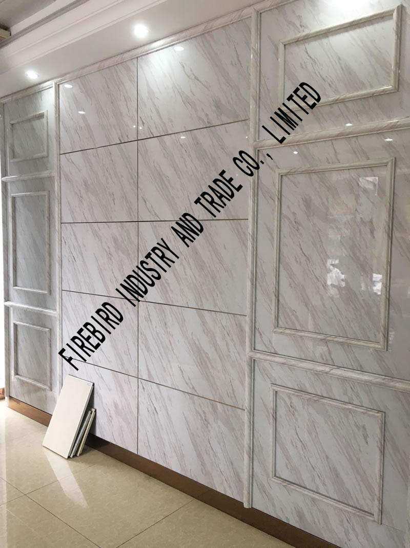 Pvc Marble Sheet For Wall Cladding And Decoration Pvc