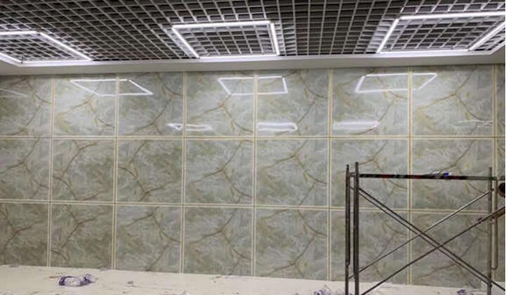 PVC Marble Sheet Installation Without Decor Line 2