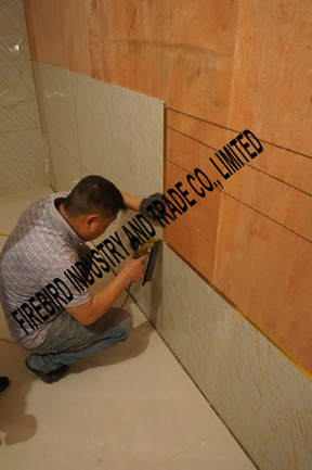 PVC marble Sheet install with line 1