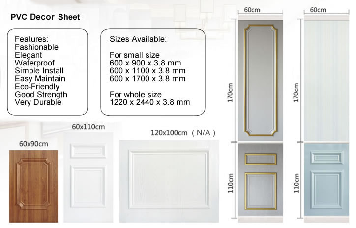 PVC Decor Sheet Size